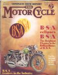 MOTOR CYCLE - MOTORCYCLE MAGAZINE - COMPLETE SHOW REPORT - 5TH NOVEMBER 1936 - M2311
